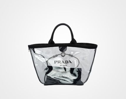 c4d4c69011ae ... italy prada totes casual style 2way bi color crystal clear bags totes 9  a55bd 31e22 ...