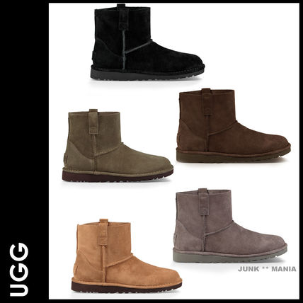 UGG Australia Ankle & Booties Plain Toe Casual Style Suede Street Style Plain
