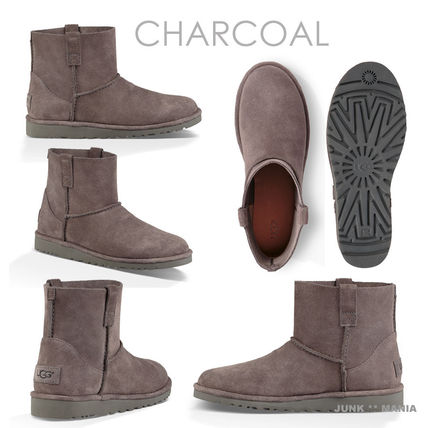 UGG Australia Ankle & Booties Plain Toe Casual Style Suede Street Style Plain 3