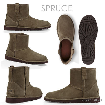 UGG Australia Ankle & Booties Plain Toe Casual Style Suede Street Style Plain 4