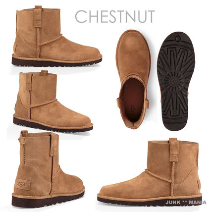 UGG Australia Ankle & Booties Plain Toe Casual Style Suede Street Style Plain 5