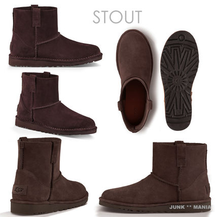 UGG Australia Ankle & Booties Plain Toe Casual Style Suede Street Style Plain 6