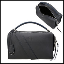 FENDI LEI Plain Leather Elegant Style Shoulder Bags