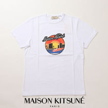 MAISON KITSUNE Pullovers Unisex Cotton Short Sleeves Polos