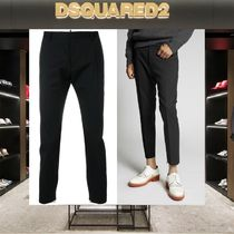 D SQUARED2 Wool Plain Cropped Pants