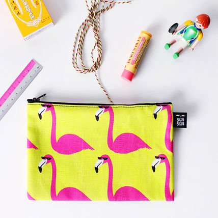 Canvas Other Animal Patterns Pouches & Cosmetic Bags