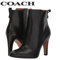Coach Plain Leather Pin Heels Office Style Ankle & Booties Boots