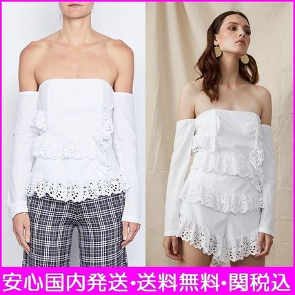 Short Casual Style Plain Cotton Cropped