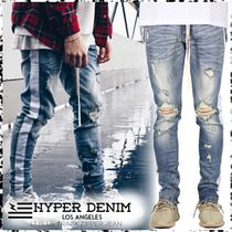 HYPER DENIM Stripes Denim Street Style Plain Skinny Fit Jeans & Denim
