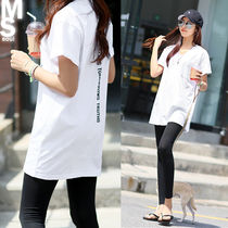 V-Neck Cotton Long Short Sleeves T-Shirts