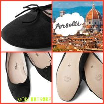 PORSELLI Suede Ballet Shoes