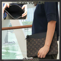 Louis Vuitton MONOGRAM Monogram Unisex Canvas Blended Fabrics Bi-color