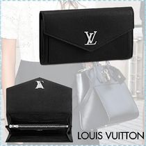 Louis Vuitton MY LOCKME  Calfskin Blended Fabrics Plain Long Wallets