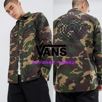 VANS Camouflage Street Style Long Sleeves Cotton Shirts