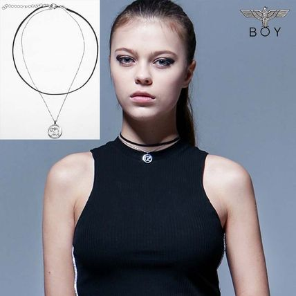 Street Style Leather Necklaces & Pendants