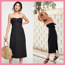 Free People Casual Style Tight Cotton Medium Dresses