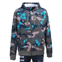 VALENTINO Camouflage Long Sleeves Cotton Hoodies