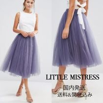 Little Mistress Nylon Plain Medium Midi Skirts