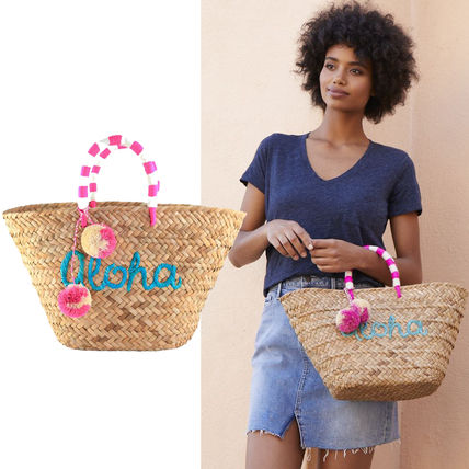 Tropical Patterns Straw Bags