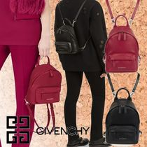 GIVENCHY Casual Style Plain Leather Backpacks
