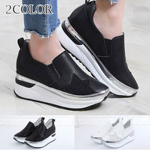 Star Wedge Round Toe Casual Style Faux Fur Street Style