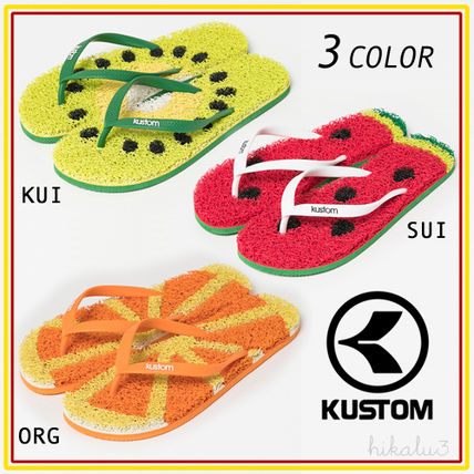 Tropical Patterns Open Toe Casual Style Flip Flops