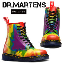 Dr Martens Plain Toe Tie-dye Leather Engineer Boots