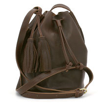 IL BISONTE Casual Style Plain Leather Crossbody Shoulder Bags