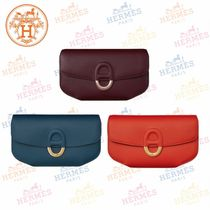 HERMES Plain Leather Clutches