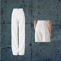 Maison Martin Margiela Plain Cotton Wide & Flared Jeans