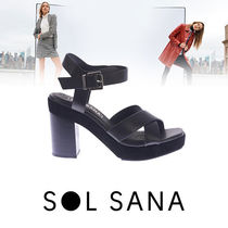 SOLSANA Round Toe Rubber Sole Casual Style Street Style Plain