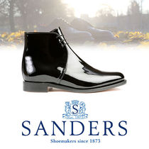 SANDERS Casual Style Leather Flat Boots