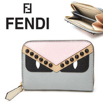 FENDI BAG BUGS Leather Coin Purses