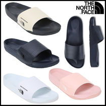THE NORTH FACE Open Toe Rubber Sole Casual Style Unisex Plain Shower Shoes