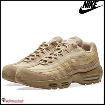 Nike AIR MAX 95 Driving Shoes Suede Bi-color Loafers & Slip-ons