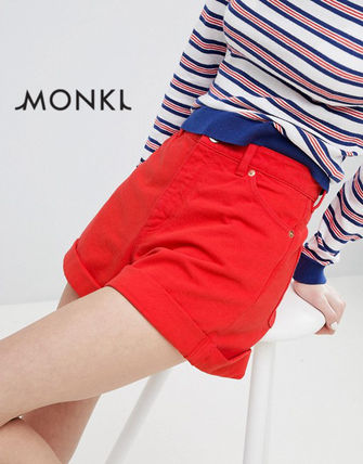 Casual Style Denim Denim & Cotton Shorts