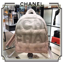 CHANEL Casual Style Nylon A4 Backpacks