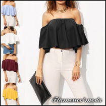Casual Style Plain Bandeau & Off the Shoulder