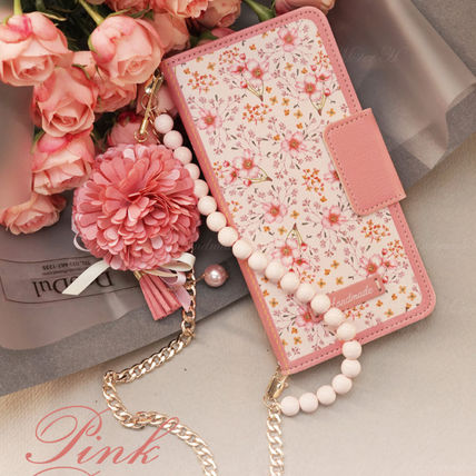 Flower Patterns Chain Smart Phone Cases