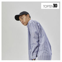 TOPTEN10 Stripes Street Style Long Sleeves Shirts