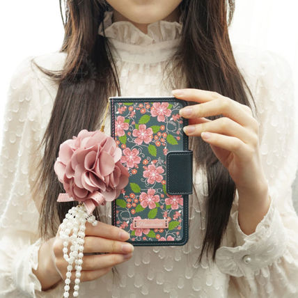 Flower Patterns Handmade With Jewels Smart Phone Cases