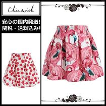 Chicwish Short Tropical Patterns Pleated Skirts Other Animal Patterns