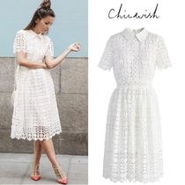 Chicwish A-line Medium Short Sleeves Home Party Ideas Elegant Style