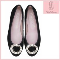 Pretty Ballerinas Round Toe Suede Plain Party Style Ballet Shoes