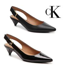 Calvin Klein Leather Kitten Heel Pumps & Mules