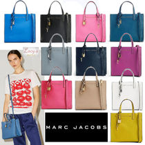 MARC JACOBS Street Style 2WAY Bi-color Plain Leather Office Style