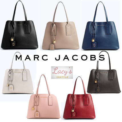 d491957d03b2 MARC JACOBS 2018 SS A4 2WAY Plain Leather Office Style Totes by ...