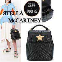 Stella McCartney Casual Style Faux Fur Plain Backpacks