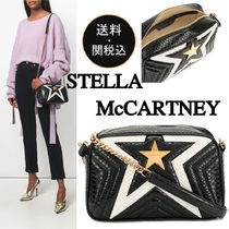Stella McCartney Star Casual Style Faux Fur Chain Shoulder Bags