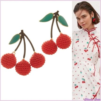 Casual Style Blended Fabrics Earrings
